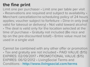 Living Social 86 West Voucher Fine Print Part 1