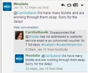 Moolala tweet